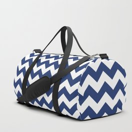 Navy Chevron Duffle Bag