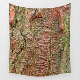 Mossy Wood Rifts Wall Tapestry