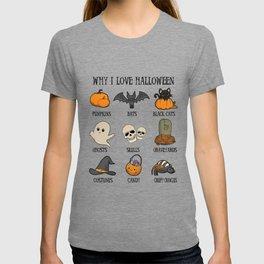 Halloween pumpkin skull spirit Creepy gift T-shirt
