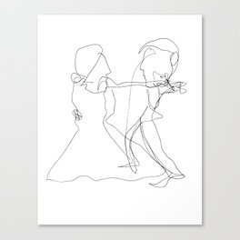 Every Thursday they went out to dance the Tango Canvas Print