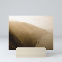 Golden Madeira Coast Line Mini Art Print