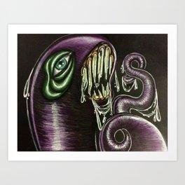 Evil Worm Art Print