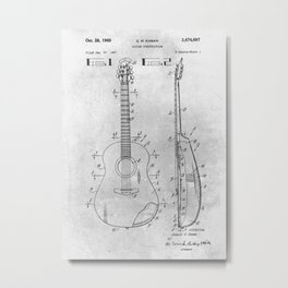 Guitar Construction Metal Print