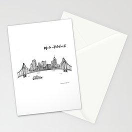 Ink Sketch Pittsburgh Skyline Stationery Cards
