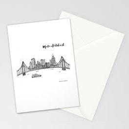 Ink Sketch Pittsburgh Skyline Stationery Cards