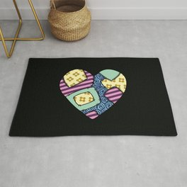 Patchwork heart Rug