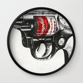 Soup Gun Wall Clock