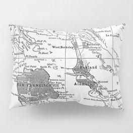 Vintage Map of San Francisco California (1905) Pillow Sham