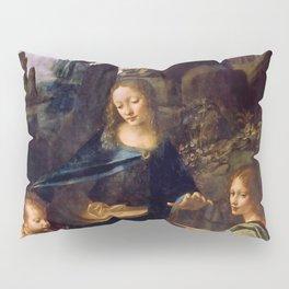 """Leonardo da Vinci """"The Virgin of the Rocks"""" (Louvre) Pillow Sham"""