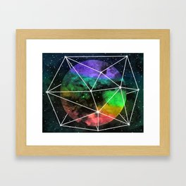 Space Anomaly Framed Art Print