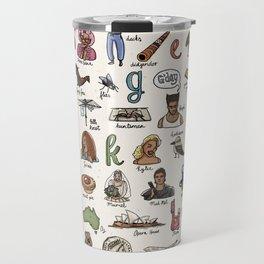 The Australian Alphabet Travel Mug