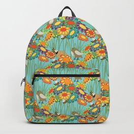 Colorful Gerber Daisy Flower Field Backpack