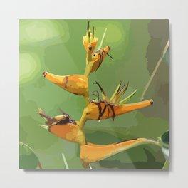 Tropical Flower CR Illustration yellow Metal Print