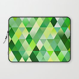 Lime Green Yellow White Diamond Triangles Mosaic Pattern Laptop Sleeve
