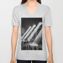 1935 Vintage New York City Grand Central Terminal Photographic Print Unisex V-Neck