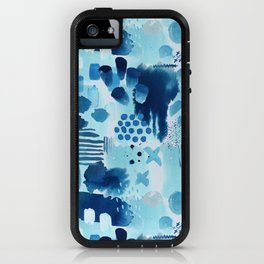 Study in blue, watercolor iPhone Case