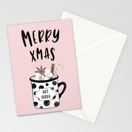 Merry Xmas with hot cocoa Stationery Cards