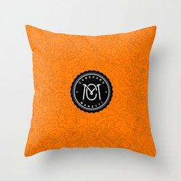 Orange Canovaro Manetti  Throw Pillow