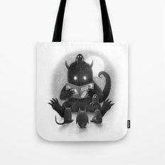 Story Time (black and white option) Tote Bag