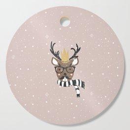Holiday Deer Illustration Cutting Board