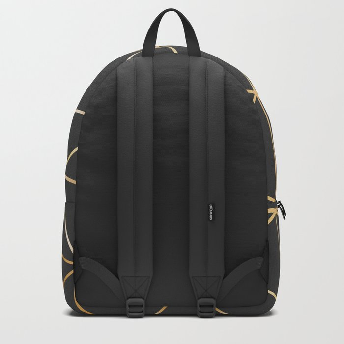 gold polygon Backpack