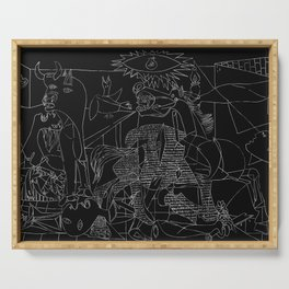 Picasso Line Art - Guernica (Black) Serving Tray