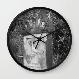 rooster grave Wall Clock