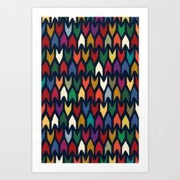 christmas arrows indigo Art Print