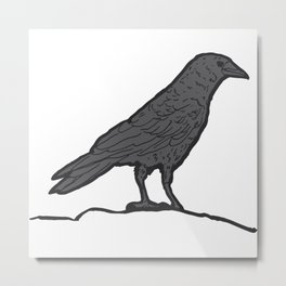 Black Crow Metal Print