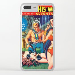 Raiders Of The Solar Frontier -  Vintage Pulp Poster Clear iPhone Case