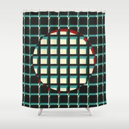 Red Exclusion Shower Curtain