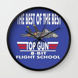8-Bit Flight School Wall Clock