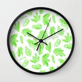 Crystals - Emerald Wall Clock