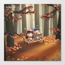 Just You & Me (Fall) Canvas Print