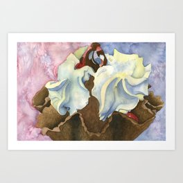 Topped with Whipped Cream Art Print