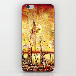 Sun Shine in my Mind surreal African Painting iPhone Skin