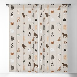 dogs Blackout Curtain