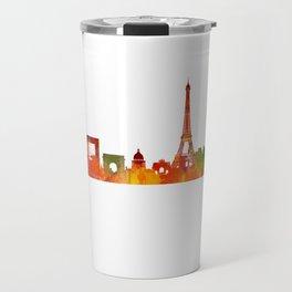 Paris City Skyline Hq v1 Travel Mug
