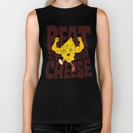 Beat it with Cheese Biker Tank