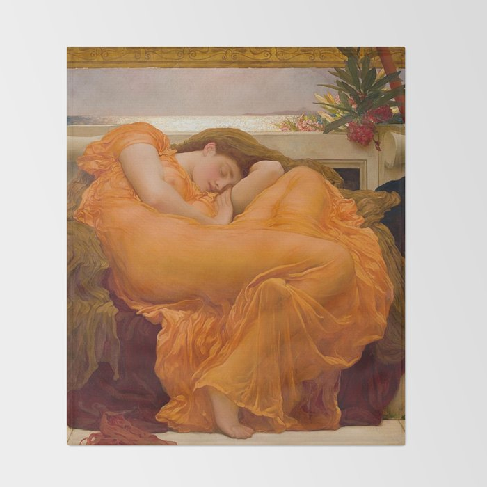 Flaming June Frederic Leighton Throw Blanket By Iconicpaintings Society6