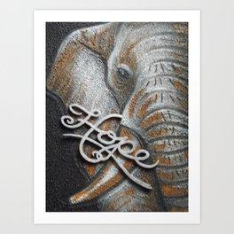 Elephant Hope Art Print