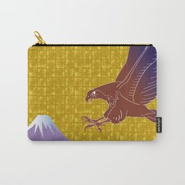 Eagle and Mt,Fuji on Gold-leaf Screen Carry-All Pouch