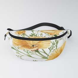 California Poppies - Watercolor Painting Fanny Pack