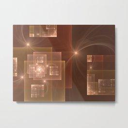 Fractal City Lights Metal Print