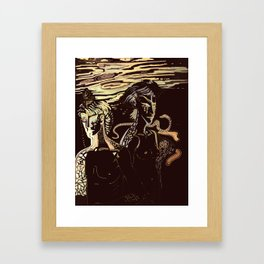 too Framed Art Print