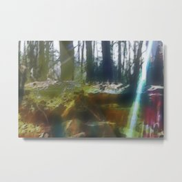Shades and Rays Metal Print