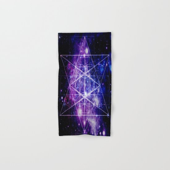 galaxy sacred geometry Hand & Bath Towel