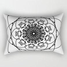 love mandala number 4 - big flower Rectangular Pillow
