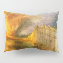 The Burning of the Houses of Lords and Commons - Joseph Mallord William Turner Pillow Sham