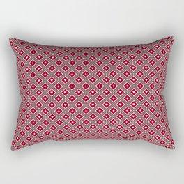 Batik Kawung Classic Pattern - Valentine Edition Rectangular Pillow
